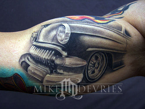 Mike DeVries - Car Front End Tattoo